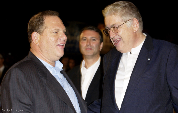 Harvey Weinstein (b) és Moritz de Hadeln (j)