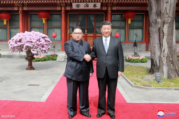 Kim Dzsongun és Hszi Csin-ping