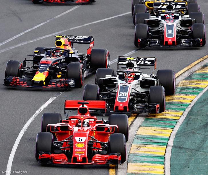 Ferrari mögött két Haas-Ferrari Melbourne-ben