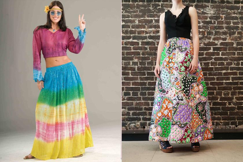 A '70-es években taroltak az ilyen, patchwork stílusú szoknyák, de ma már nehéz elképzelni, hogyan lehet egy nő szexi egy túlméretezett pokróccal a dereka körül.