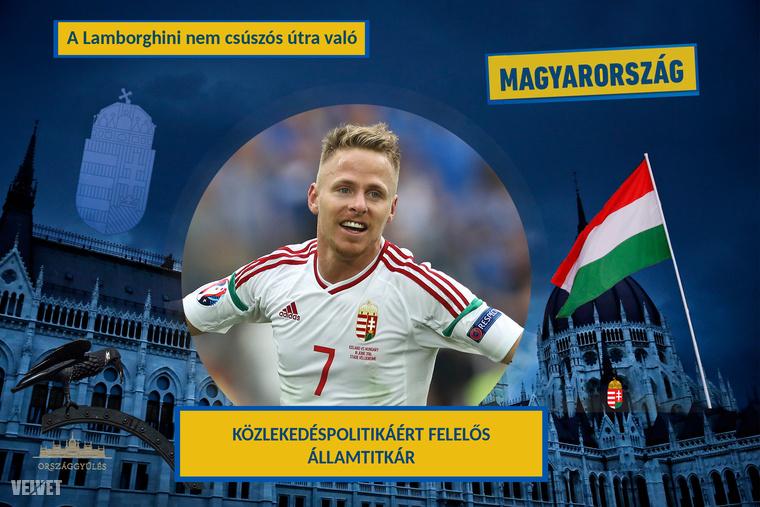 Dzsudzsák BalázsHogy jön a híres magyar focistához a közlekedés? Hát úgy, hogy 2013-ban összetört egy Lamborghini Aventadort, 2015-ben meg a Lánchídon okozott dugót, amikor a kocsijából kifogyott a benzin