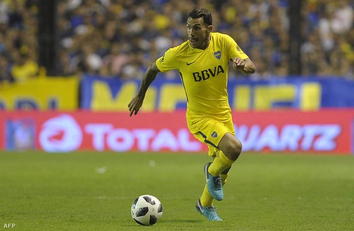 Ez a kép a Boca Juniorsban készült Tevezről