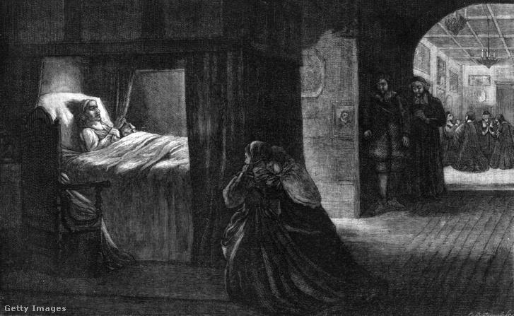 Cromwell halálos ágya