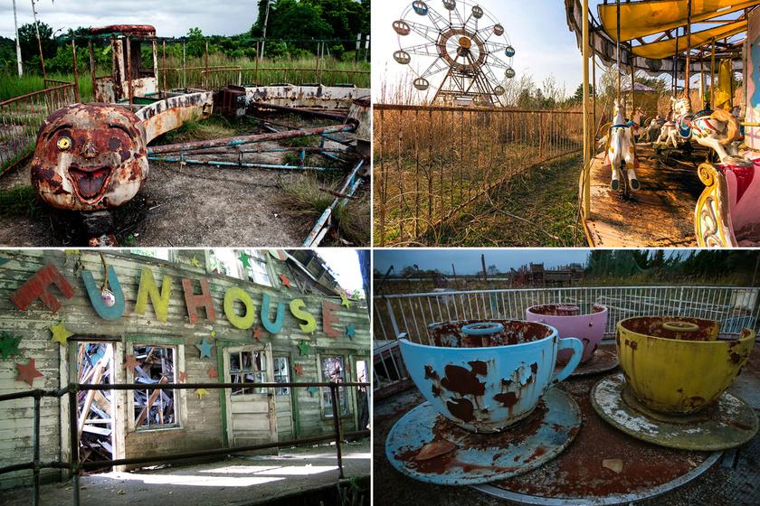 Minden, csak nem vidám: képeken a legfélelmetesebb egykori vidámparkok