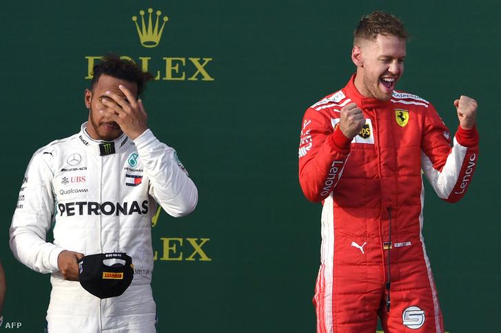 Hamilton és Vettel a melbourne-i dobogón