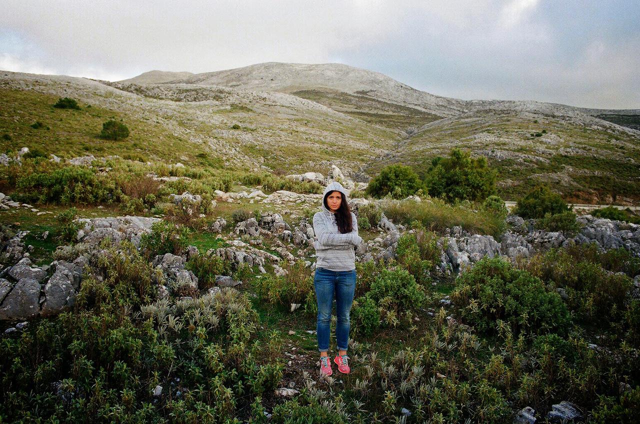Geréby Zsófi Andalúziában 2014-ben. Ez nyaralás volt és nem munka.