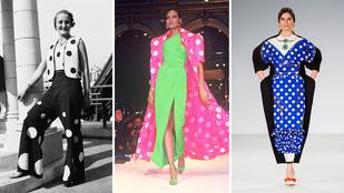 Divattöri: ennyit változott 100 év alatt a pöttyös ruha