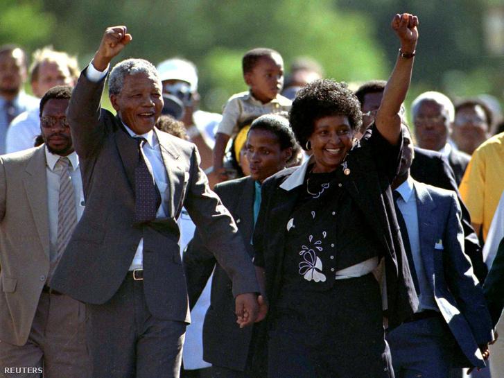 Nelson és Winnie Mandela 1990-ben