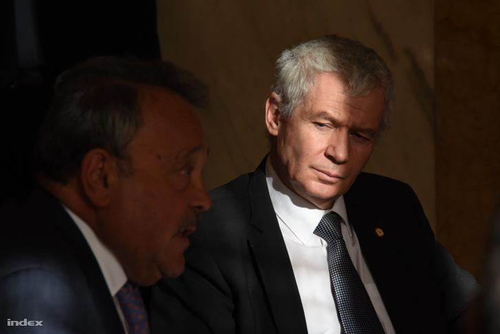 Polt Péter legfőbb ügyész az Országos Bírói Tanács alakuló ülésén 2018. január 30-án.
