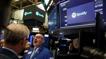 Mesésen indult a Spotify tőzsdei kereskedése