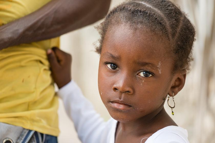Egy afrikai kislány.