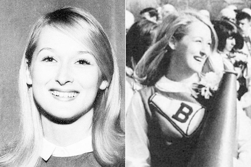 Meryl Streep a középiskolai éveiben - tinédzserkorában pomponlány volt.