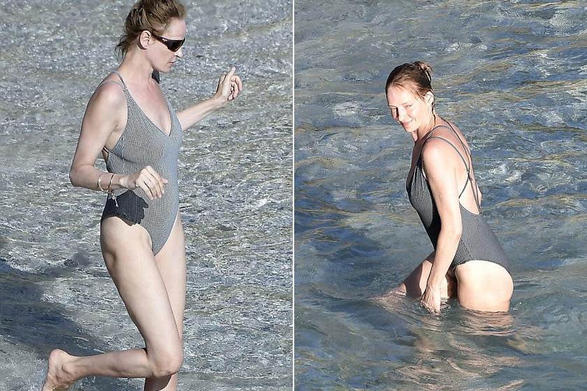 Remekül állt neki ez a Gingham-fürdőruha, bár bikiniben még jobban érvényesül a csodás alakja - a következő fotón kétrészesben is megnézheted.