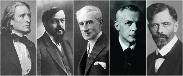 Liszt, Debussy, Ravel, Bartók, Kodály