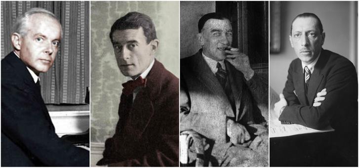 Bartók, Ravel, Szymanowski, Sztravinszkij
