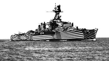 Az első világháborúban csíkosra festették a hadihajókat