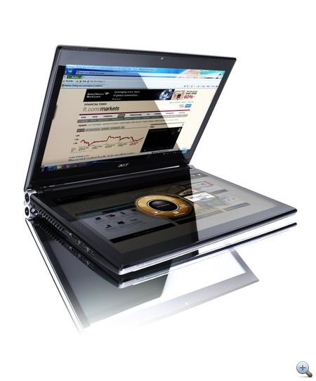 Acer Ring -  Egy gyűrű tekergetésével tudjuk behozni a különböző alkalmazásokat, a tableteken megszokott mozdulatokkal tudunk végigfutni a playlisten vagy a képeken