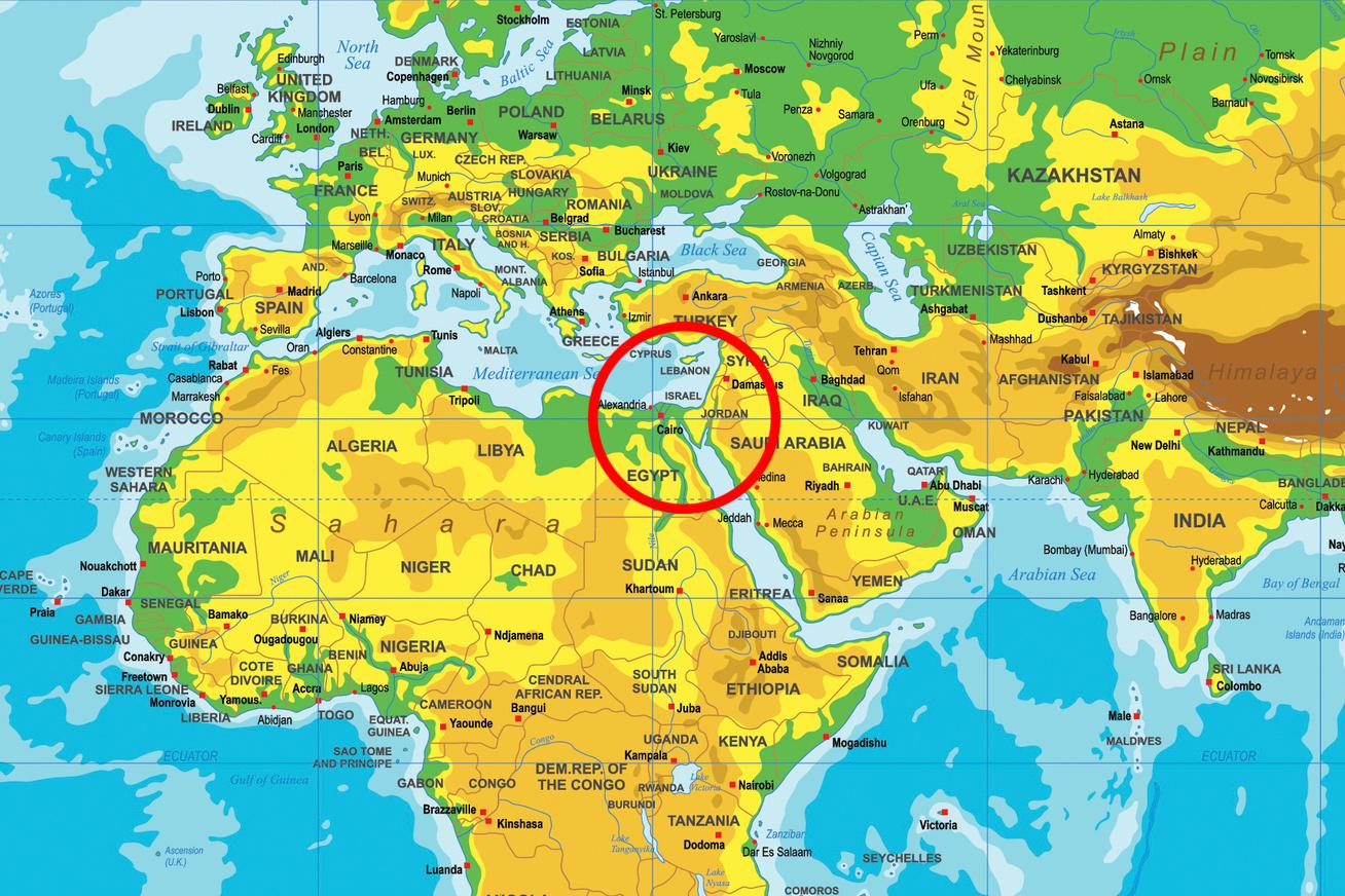 izrael-terkepen
