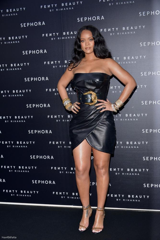 Csütörtökön Milánóban volt a Fenty Beauty nevű cég promóeseménye