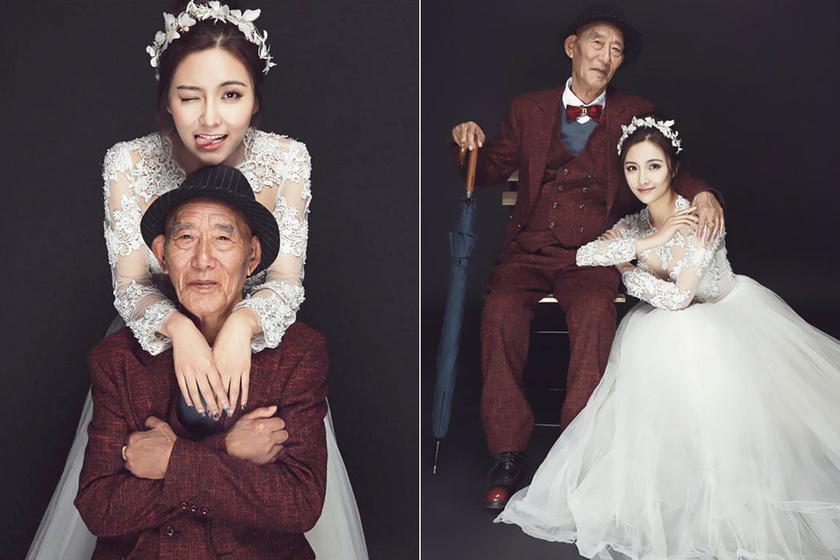 87 éves, nagybeteg nagypapája utolsó vágyát teljesítette a lány, amikor elkészítette a fotókat