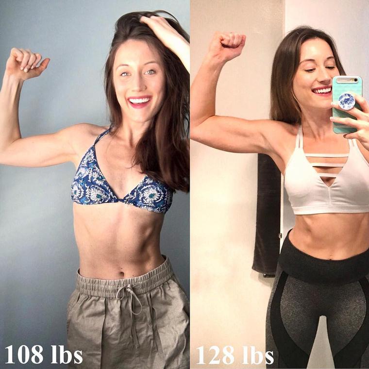 De a pluszkilóknak mégis így tudnak örülni, mint a képen látható lány, aki nagyjából 15 kilót hízott, mióta sportolni kezdett.