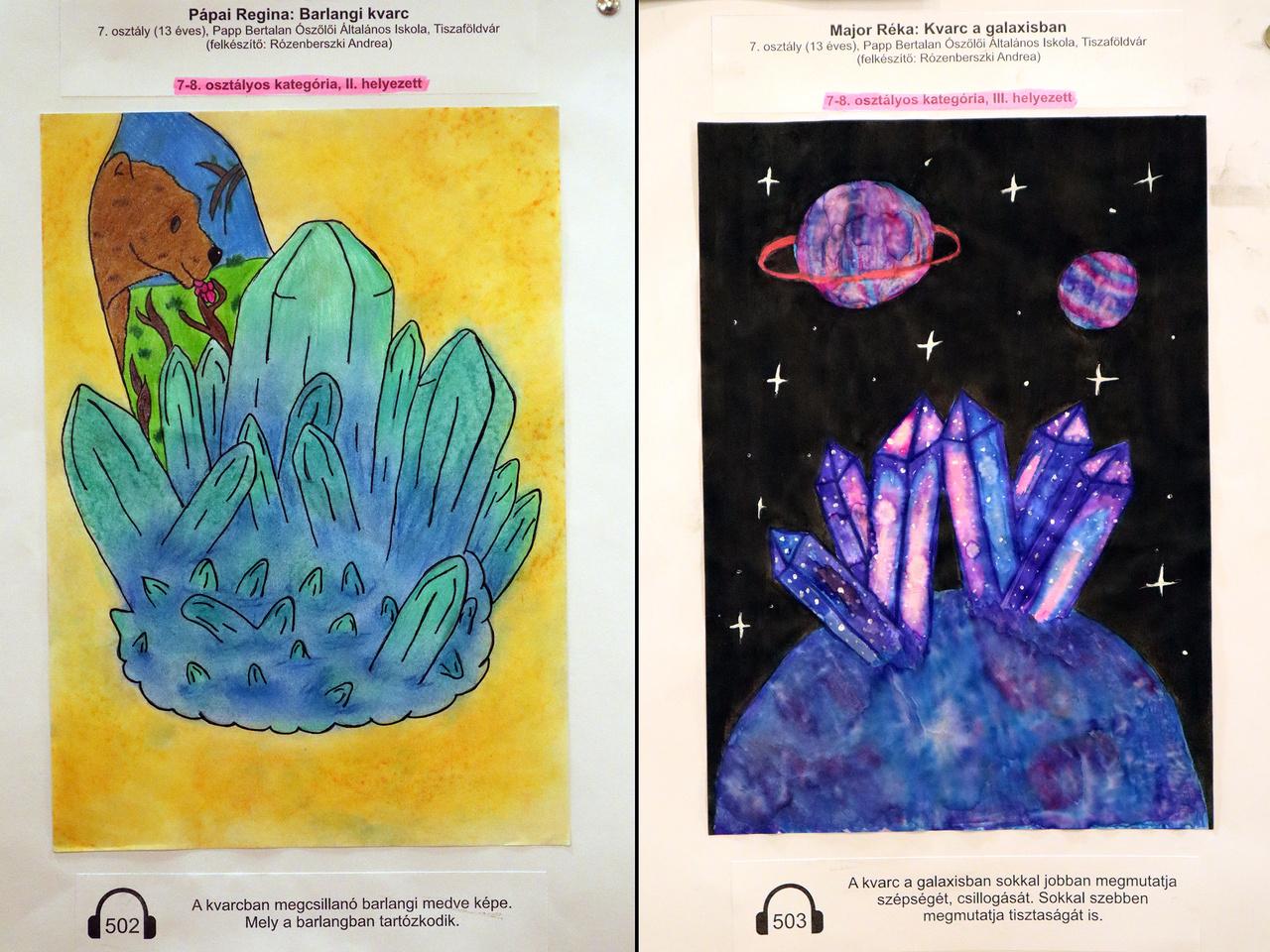 Két remek rajz a pályázatra érkezett alkotások közül.