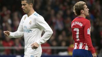 Nagy Ronaldo-gól, gyors Griezmann-válasz a Real-Atleticón