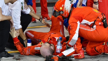 Räikkönen-dráma, elgázolta egyik szerelőjét a kerékcserénél, Vettel nyert