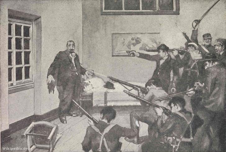 """Egy példa az 1920-as évek politikai bizonytalanságára Portugáliában: 1921. október 19-éről 20-ára virradó éjszaka egy katonai lázadás, az úgy nevezett Noite Sangrenta (vagyis """"véres éjszaka"""") során lázadó tengerészek gyilkolták meg António Granjo-t, az ország akkori miniszterelnökét"""