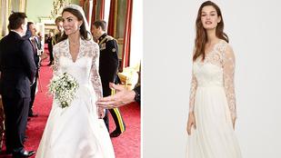 Jó hír! A H&M piacra dobta Kate Middleton menyasszonyi ruhájának mását