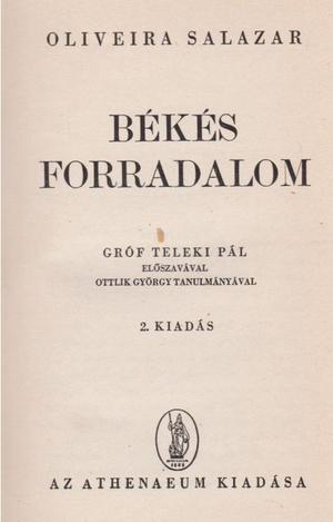 Salazar Teleki által lefordíttatott művének második kiadása
