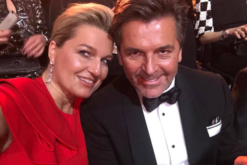 Ő itt Thomas Anders felesége, Claudia - a pár itt egy német filmes díjátadón vett részt 2018 februárjában.