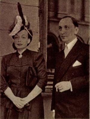 João de Ameal és felesége Magyarországon