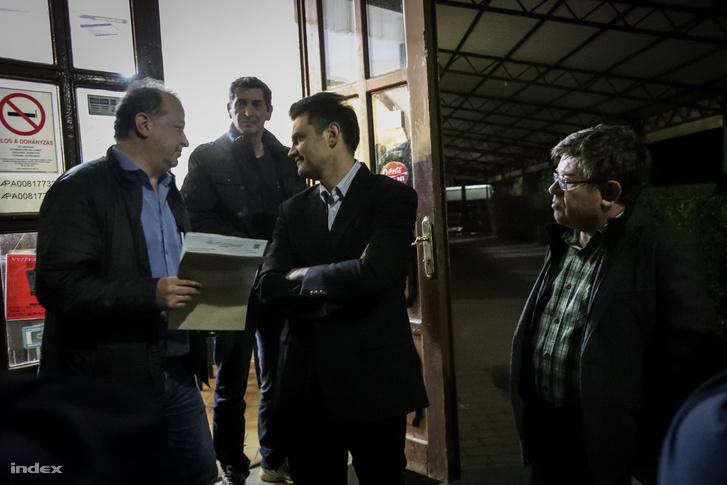 Márki-Zay Péter, Hódmezővásárhely független polgármestere a választás estéjén, 2018. április 8-án