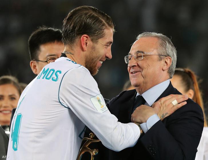 Sergio Ramos csapatkapitány és Florentino Perez