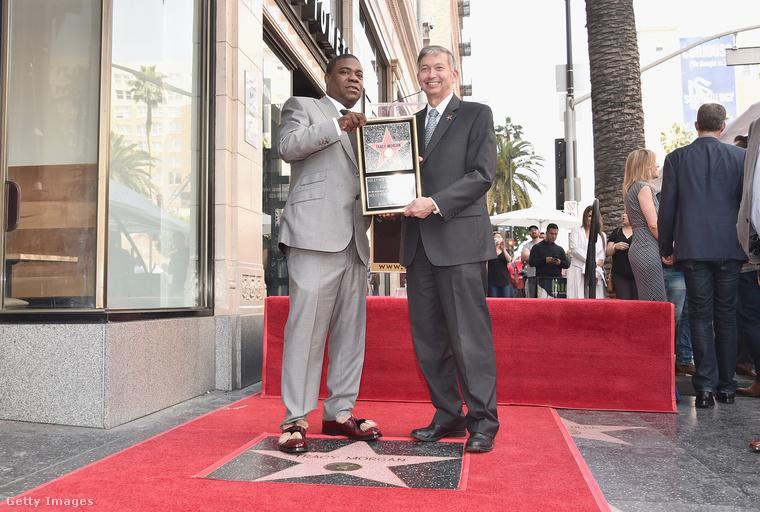 Ezen képsorozaton Tracy Morgant lehet látni, amint csillagot kap Hollywoodban a Hírességek sétányán