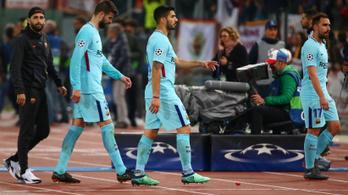 Barca: A Roma jobb volt, más taktika kellett volna