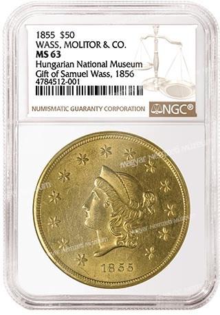 1855 s50 numizmatika eremtar aranypenz