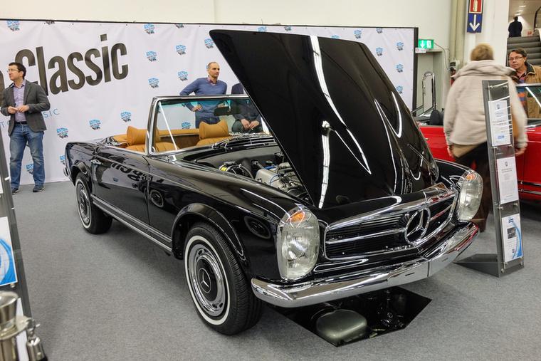 Mercedes-Benz 280 SL (1970), Esseni ár: 173 000 euró/53,6 millió forint.Katalógusár: 145 000 euró/45 millió forint.Állapot: kvázi tökéletes, restaurált