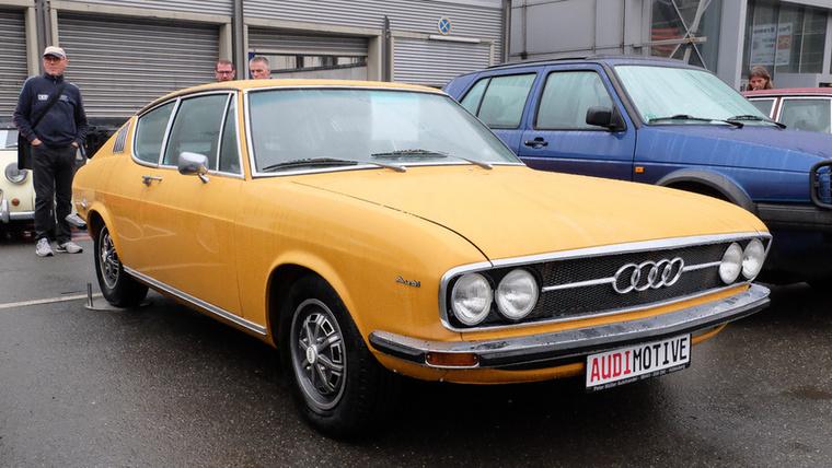 Audi 100 Coupé (1971), Esseni ár: 60 000 euró/18,6 millió forint.Katalógusár: 55 000 euró/17,1 millió forint.Állapot: teljesen restaurált  (katalógusár csak becsülve)