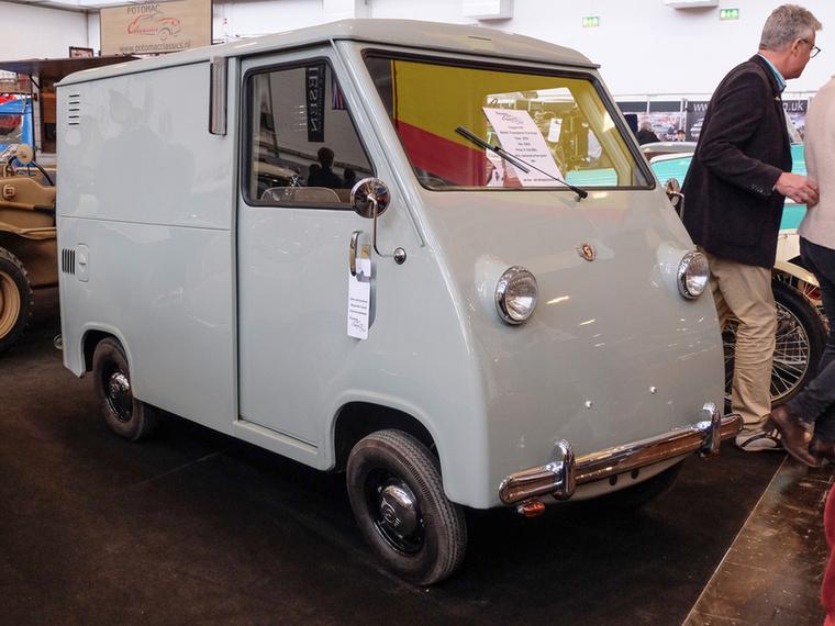 Goggomobil Transporter Prototype (1956), Esseni ár: 110 000 euró/34,1 millió forint.Állapot: teljesen felújított