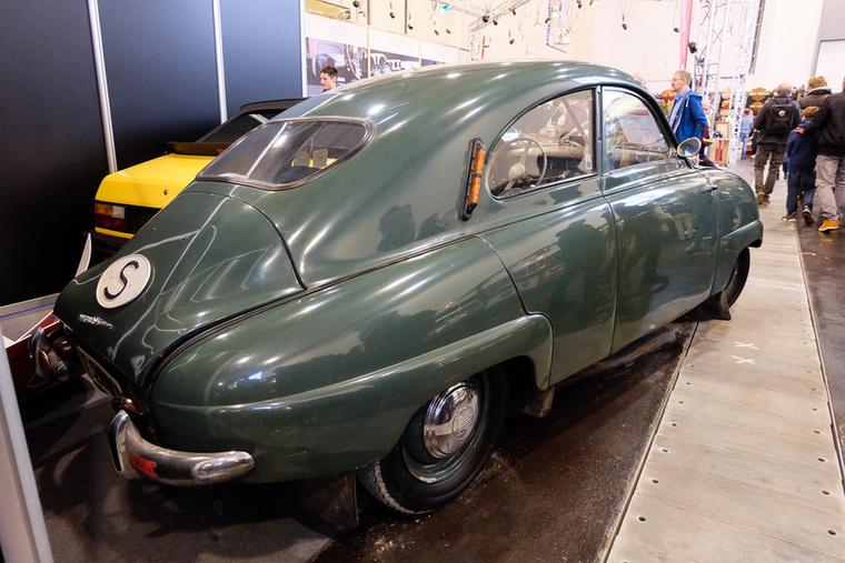 Saab 92B (1953), Esseni ár: 25 000 euró/7,8 millió forint.Katalógusár: 13 500 euró/4,2 millió forint.Állapot: szép
