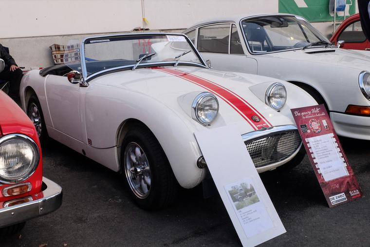 Austin-Healey Sprite (1959), Esseni ár: 23 000 euró/7,1 millió forint.Katalógusár: 19 500 euró/6 millió forint.Állapot: csodás
