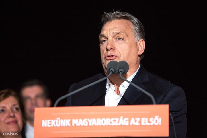 Orbán győzelmi beszédet mond 2018-ban