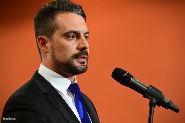 Vona Gábor a Jobbik választási eredményváró rendezvényén 2018 április 8-án