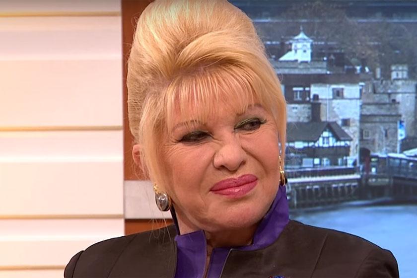 Ivana Trump 2018 elején a Good Morning Britain című műsorban - alig lehet ráismerni.