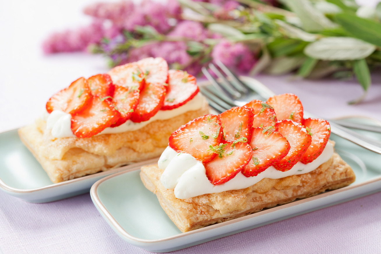 Epres-tejszínes süti leveles tésztából: 30 perc, és kész