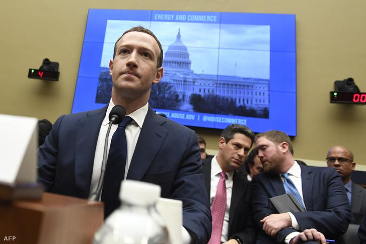 Mark Zuckerberg meghallgatása a képviselőház bizottsága előtt Washingtonban, 2018. április 11-én