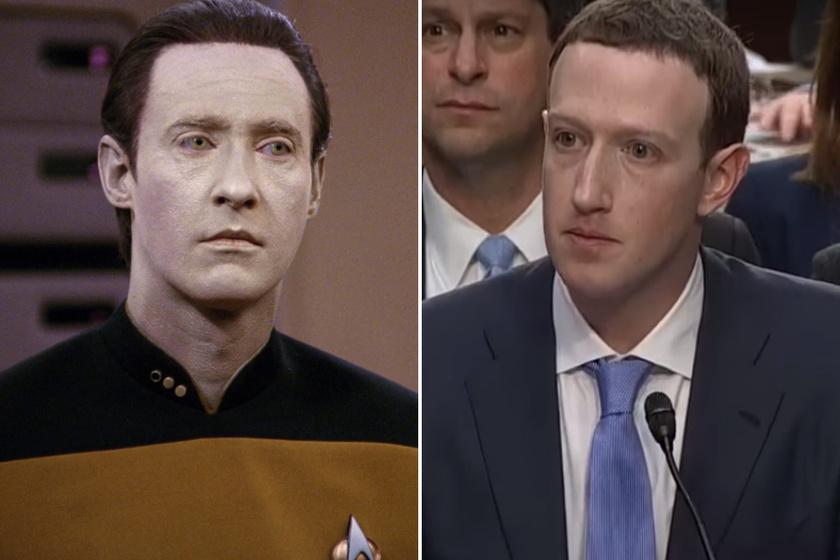Az internetezők közül sokan egészen komoly hasonlóságot fedeztek fel Mark Zuckerberg és a Star Trek androidja, Data között.