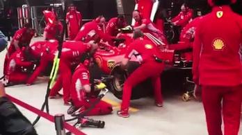 A Ferrari máris variált a kerékcserén a Räikkönen-gázolás után